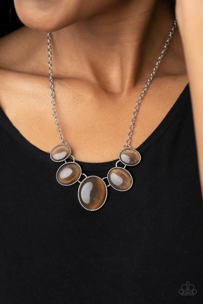 One Can Only GLEAM - Brown Necklace