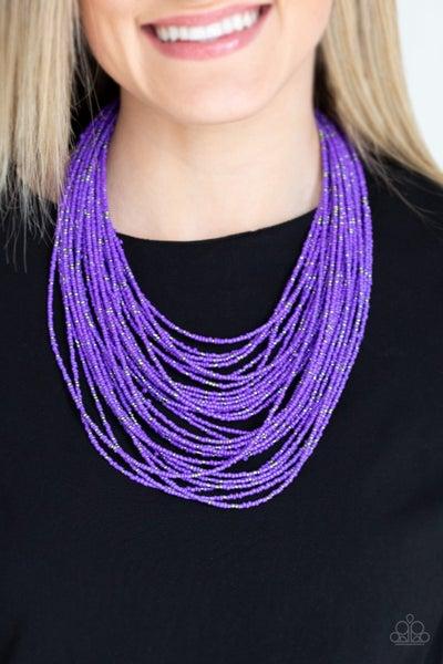 Rio Rainforest - Purple Seed Bead Necklace