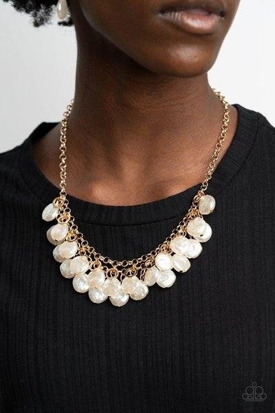 BEACHFRONT and Center - Gold Necklace