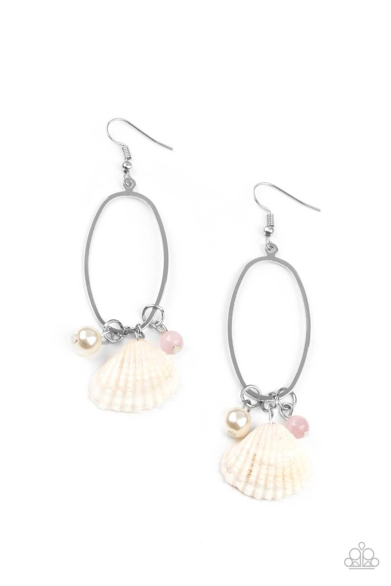 This Too SHELL Pass - Pink Earrings