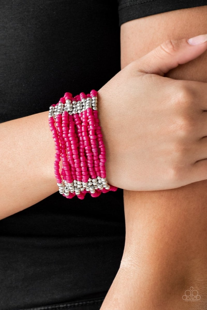 Outback Odyssey - Pink Stretchy Bracelet