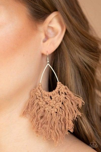 Oh MACRAME, Oh My - Brown Earrings