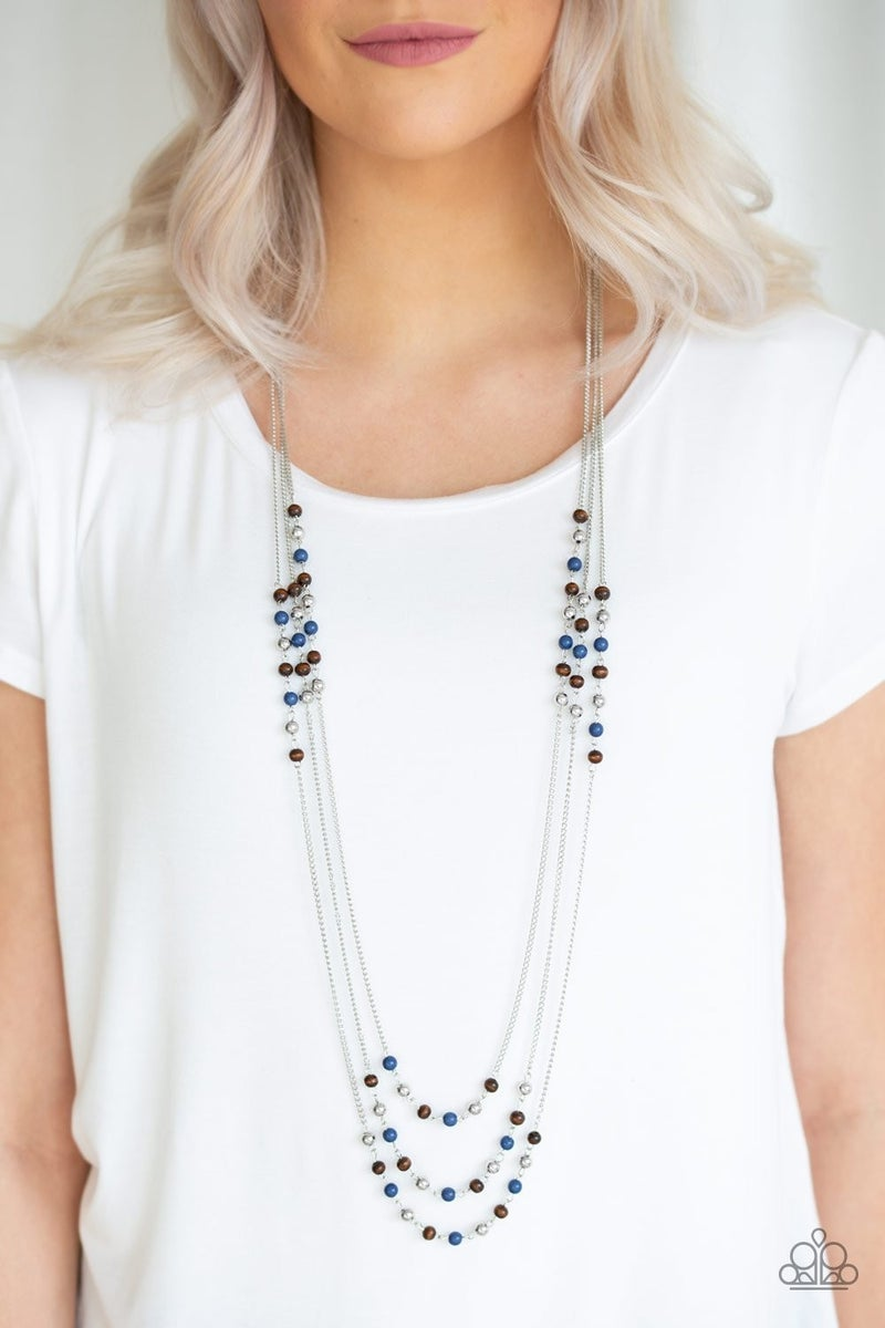 Seasonal Sensation - Blue Necklace