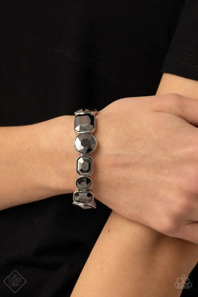 Extra Exposure - Silver Stretchy Bracelet - March 2021 Fashion Fix
