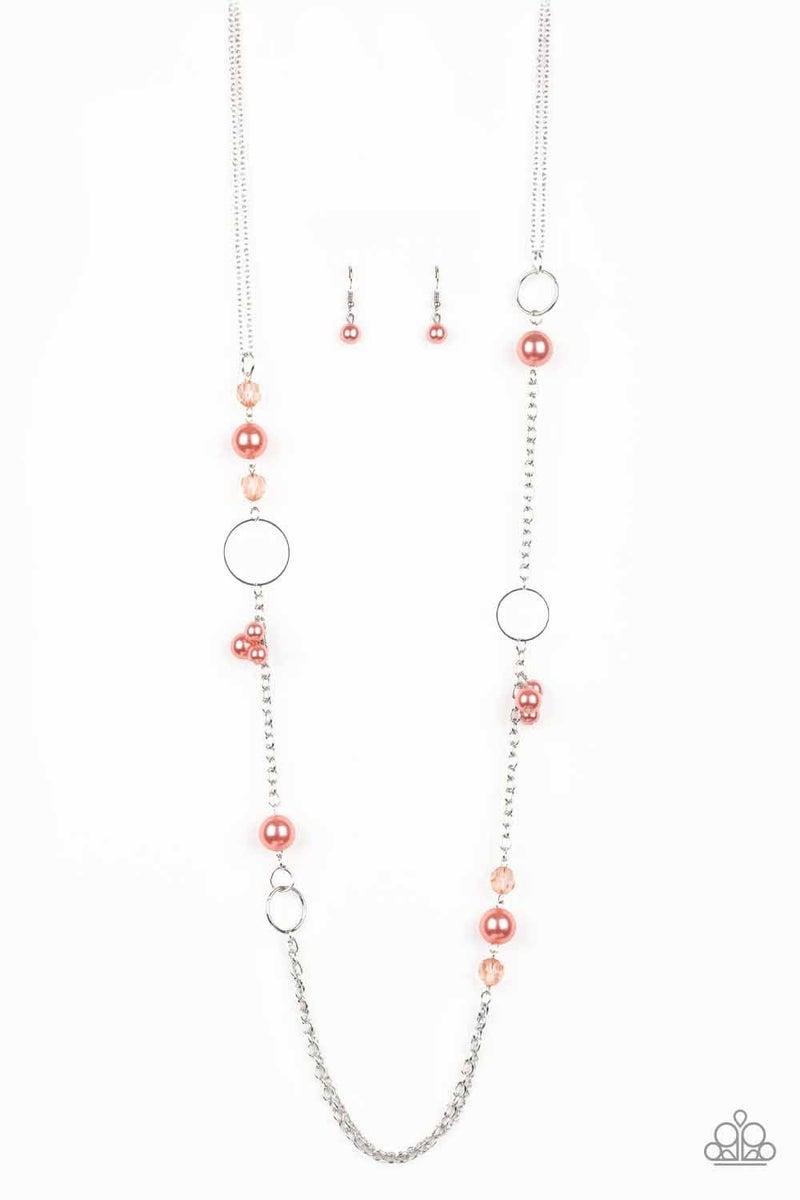Pageant Princess - Orange Necklace