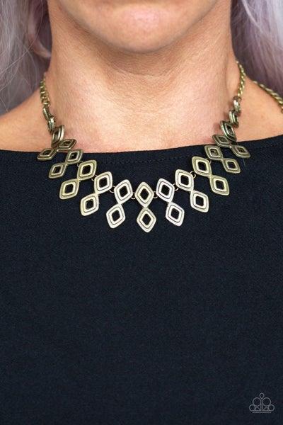 Geocentric - Brass Necklace