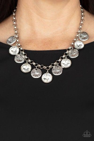 Spot On Sparkle - White Necklace