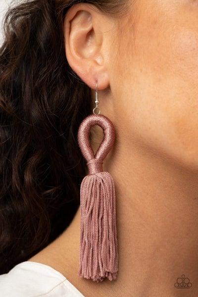 Tassels and Tiaras - Pink Earrings