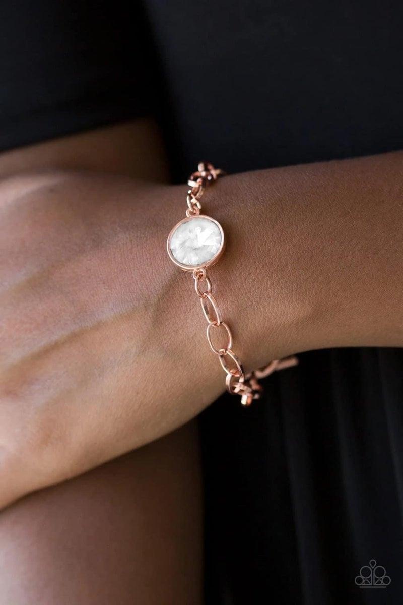 All Aglitter - Copper Clasp Bracelet