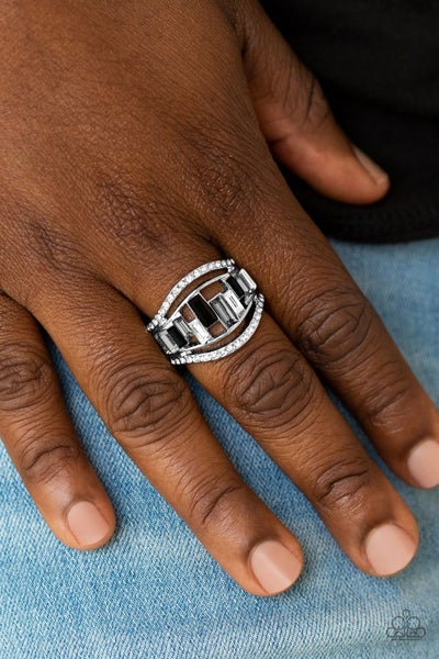 Treasure Chest Charm - Black Ring