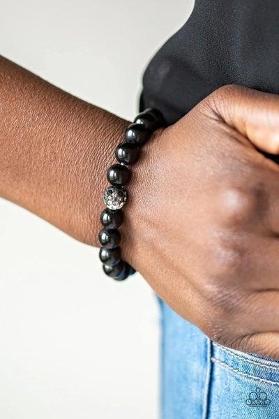 Voila! - Black Stretchy Bracelet