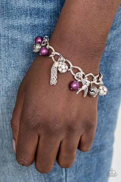 Lady Love Dove - Purple Clasp Bracelet