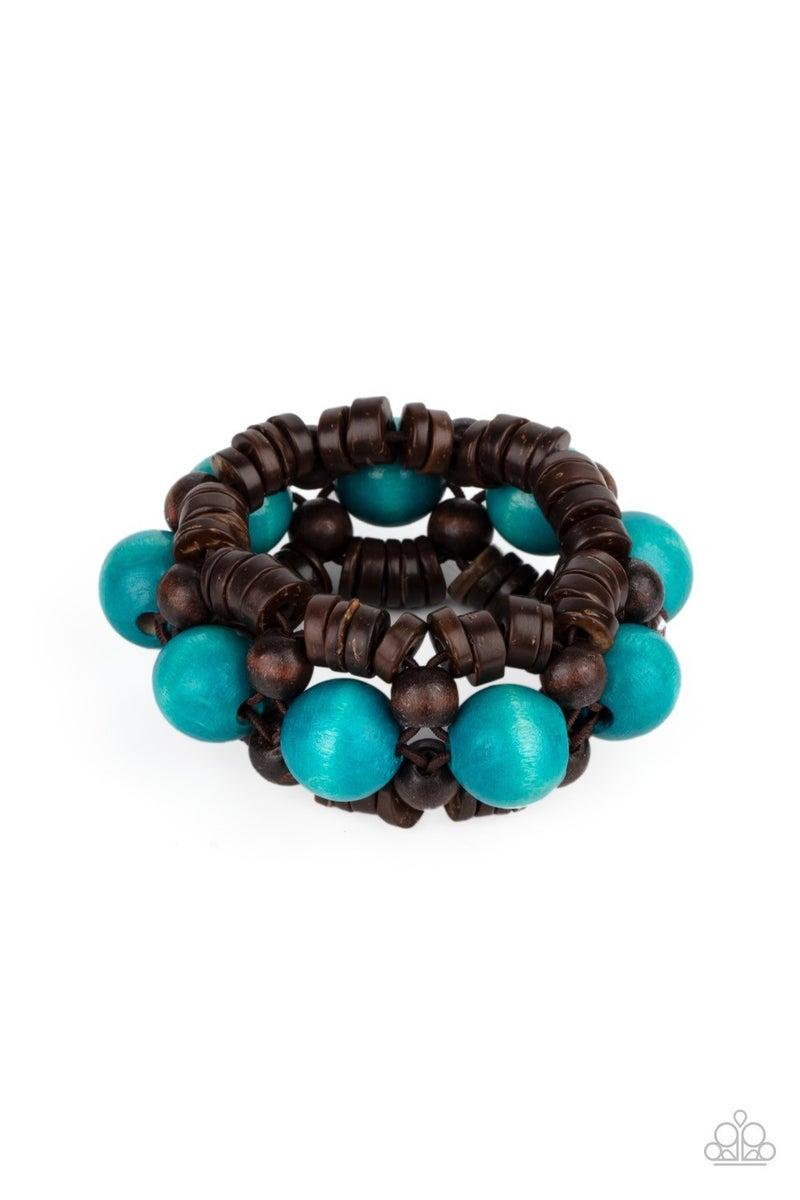 Tropical Temptations - Blue Stretchy Bracelet