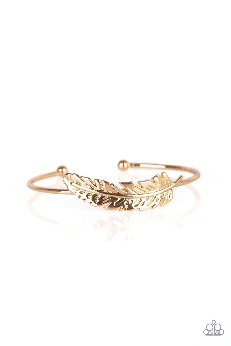 How Do You Like This FEATHER? - Gold Cuff