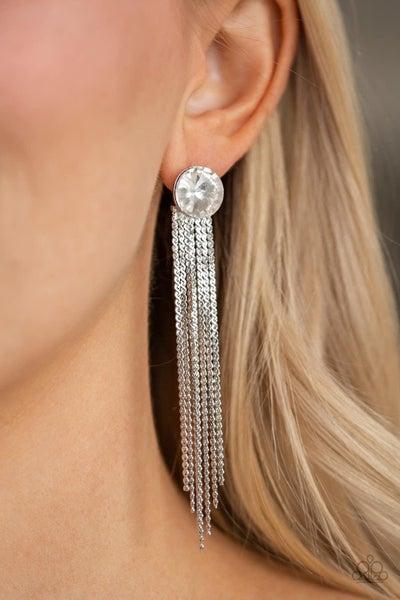 Level Up - White Earrings