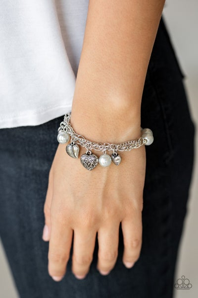 More Amour - Silver Stretchy Bracelet