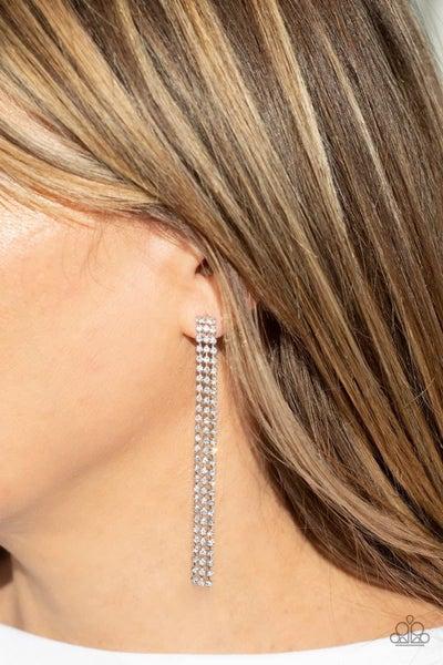 Stellar Starlight - White Earrings