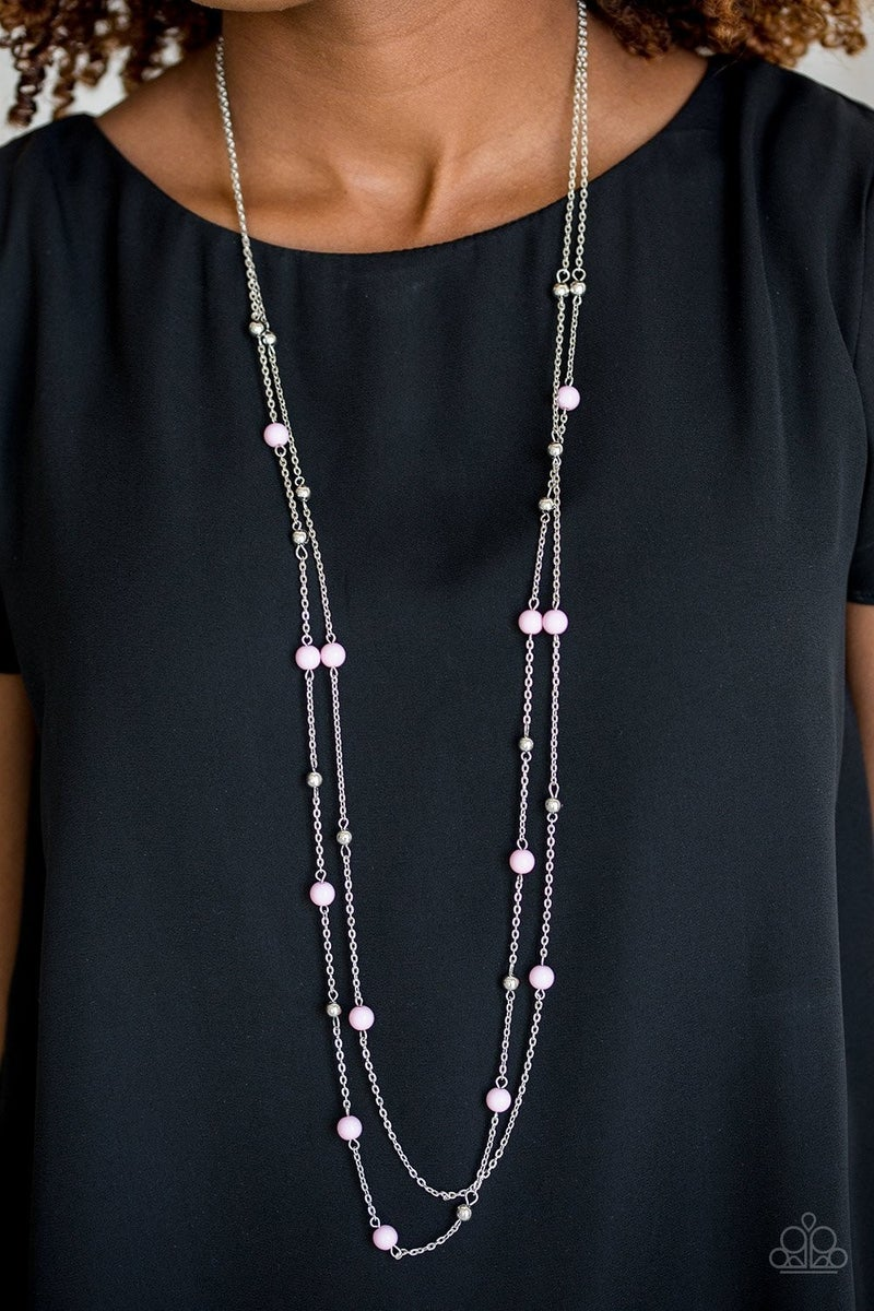 Beach Party Pageant - Pink Necklace
