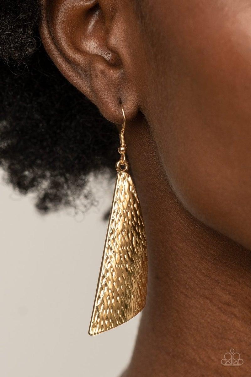 Ready The Troops - Gold Earrings