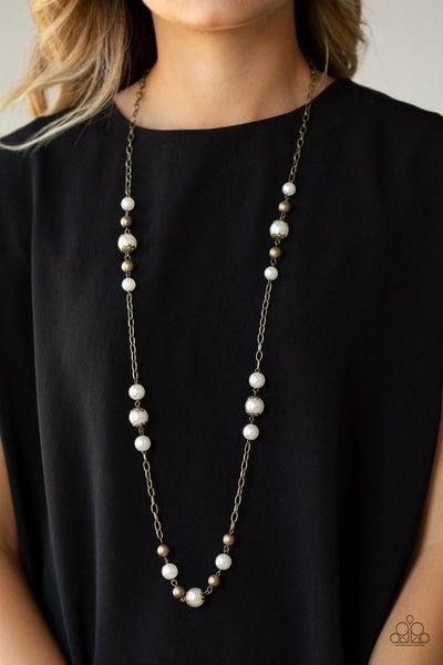 Wall Street Waltz - Brass Necklace