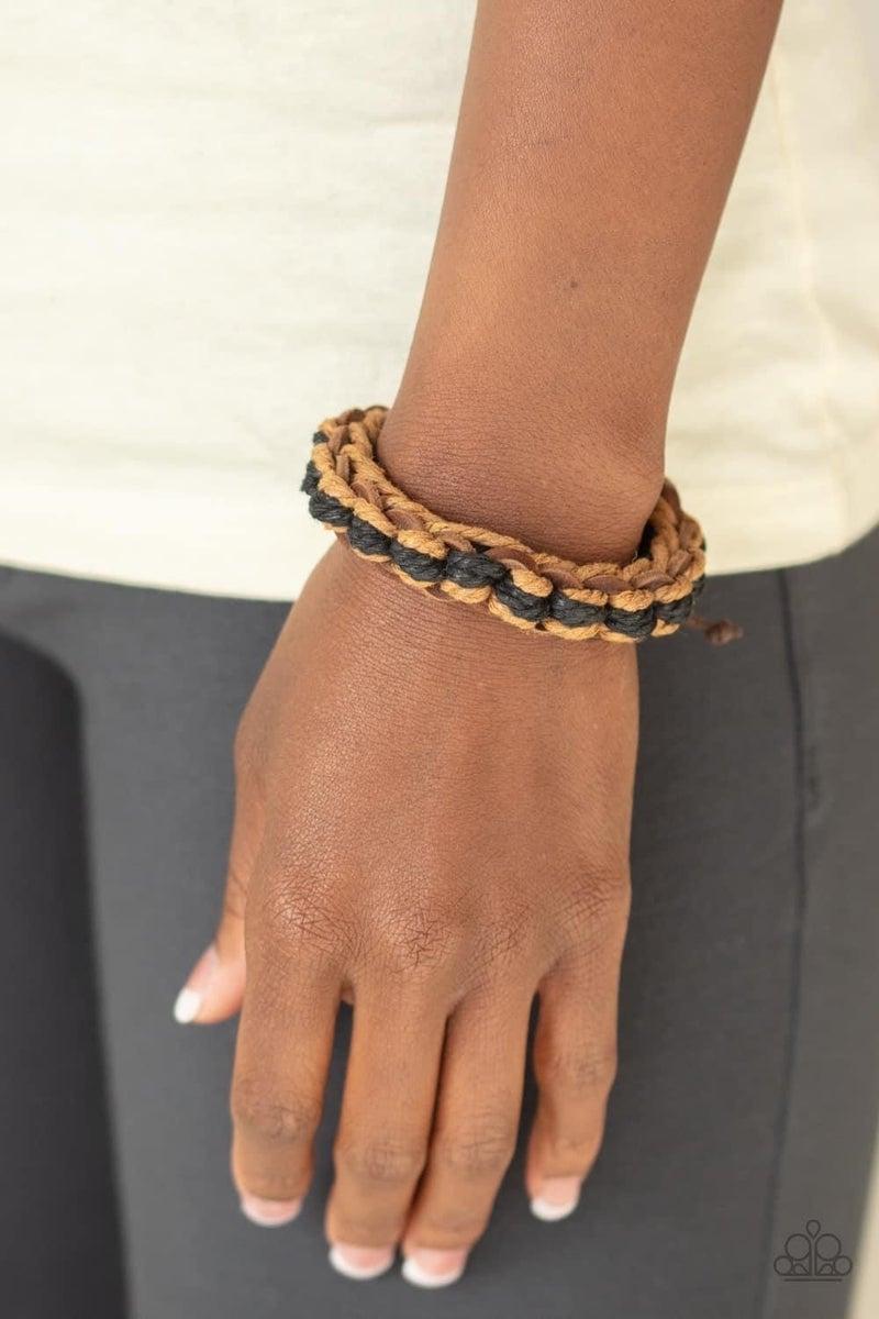 WEAVE It To Me - Brown Urban Bracelet