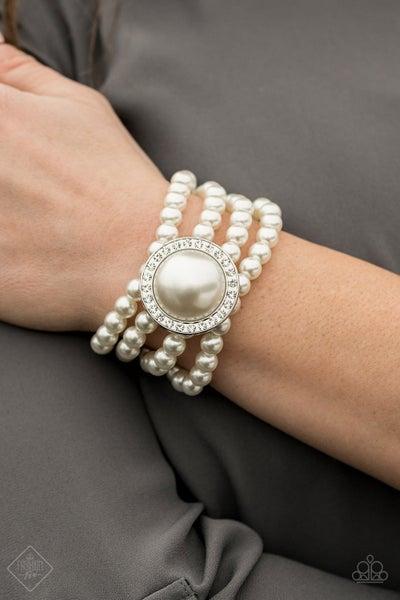 Top Tier Twinkle - White Stretchy Bracelet