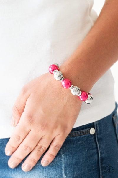 So Not Sorry - Pink Stretchy Bracelet