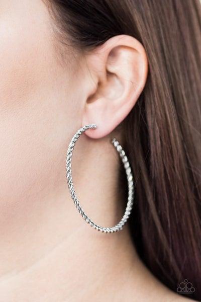 Keep It Chic - Silver Hoop Earrings