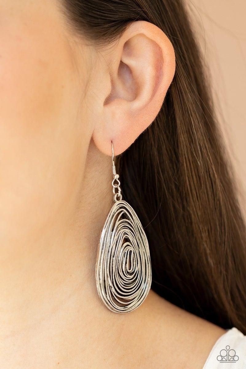 Rural Ripples - Silver Earrings