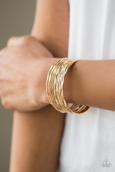 Sleek Shimmer - Gold Cuff