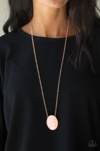 Intensely Illuminated - Copper Necklace