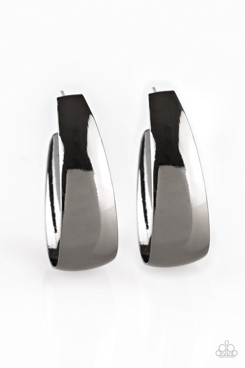 Gypsy Belle - Gunmetal Hoop Earrings
