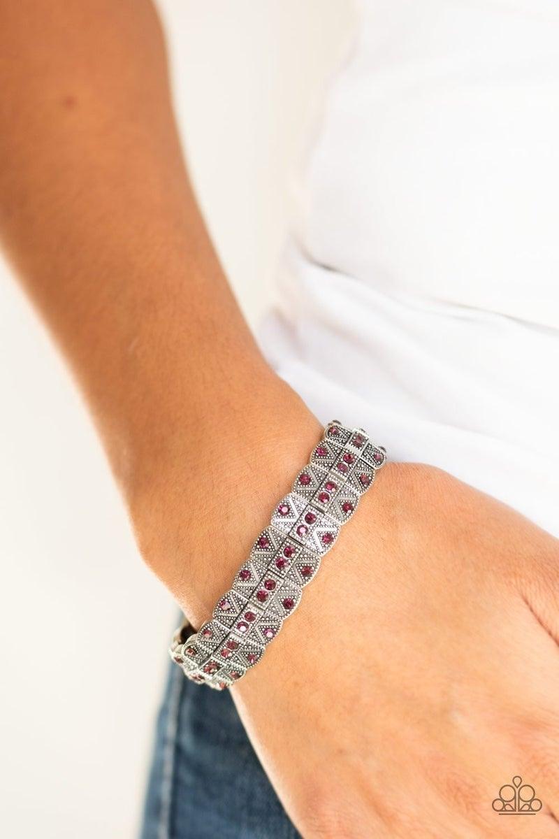 Modern Magnificence - Purple Stretchy Bracelet