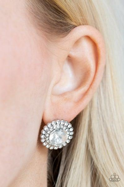 My Second Castle - White Earrings