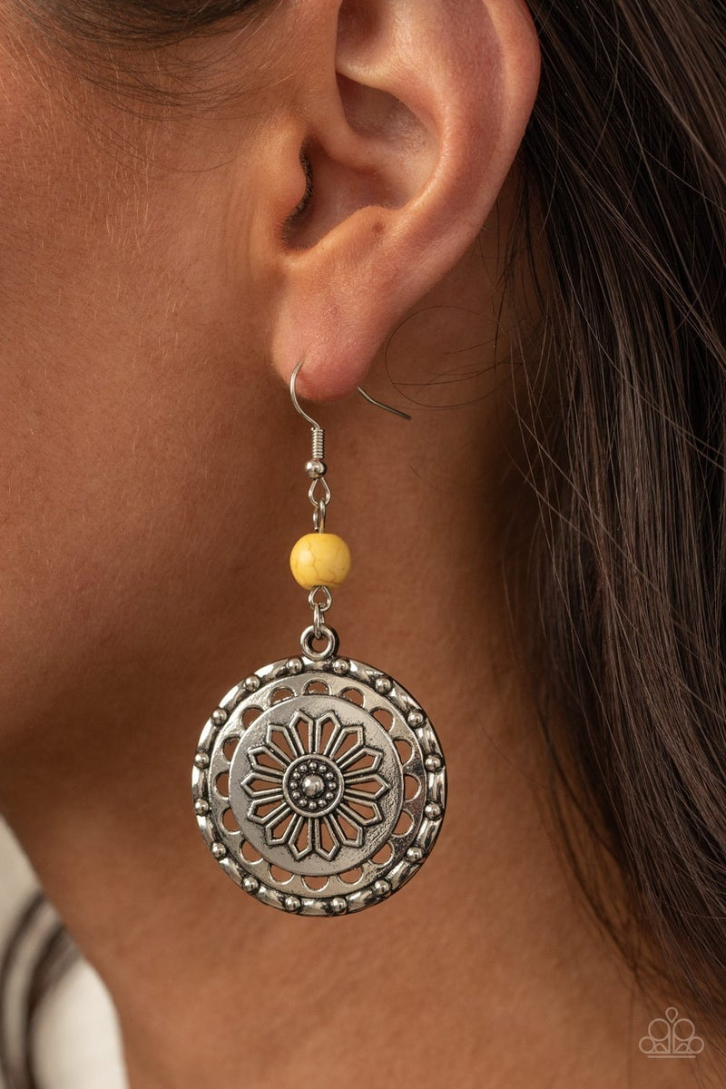 Flowering Frontiers  - Yellow Earrings