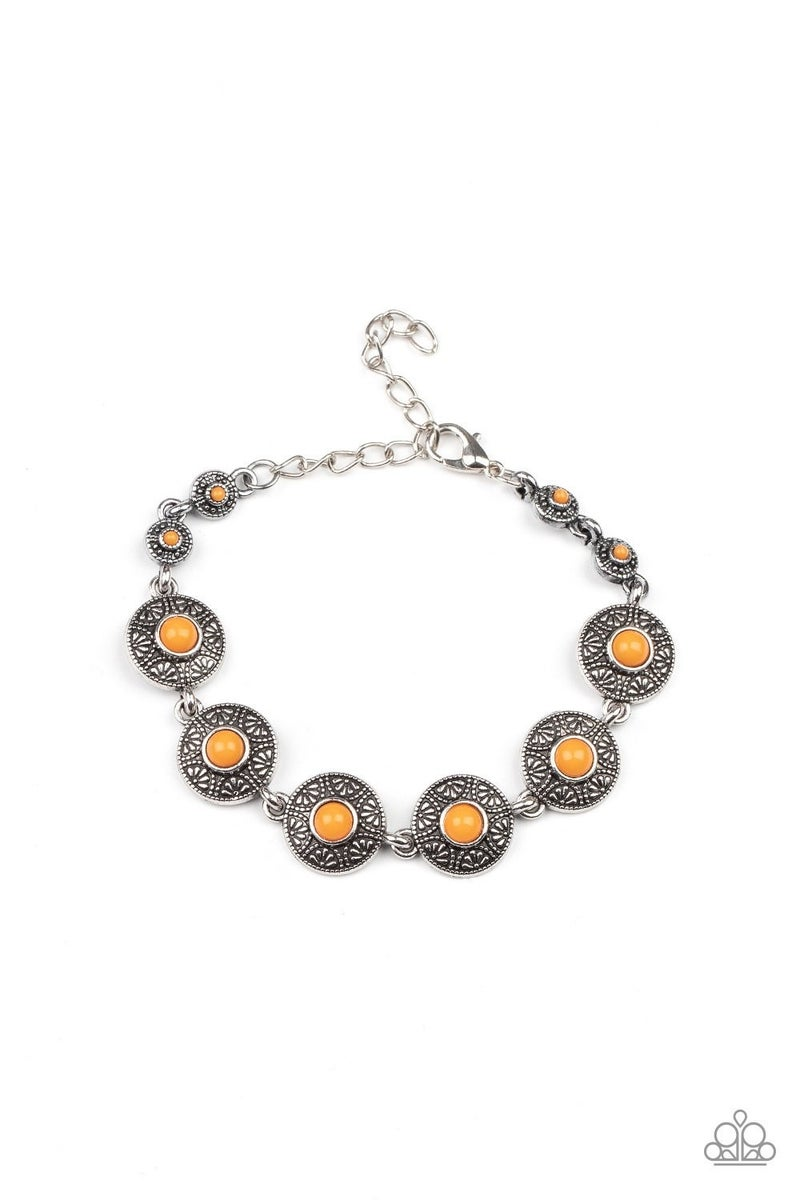 Springtime Special - Orange Clasp Bracelet