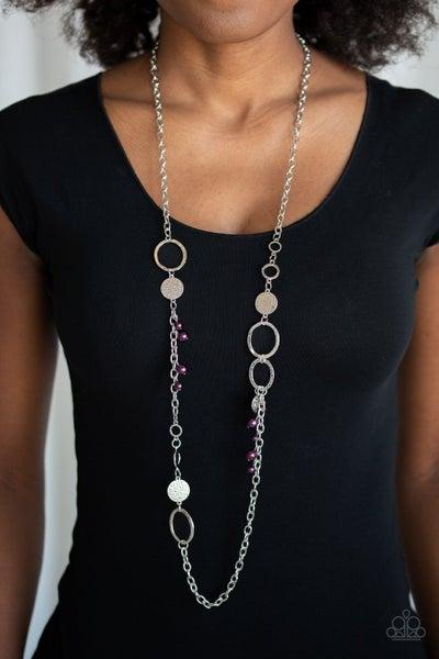 Unapologetic Flirt - Purple Necklace