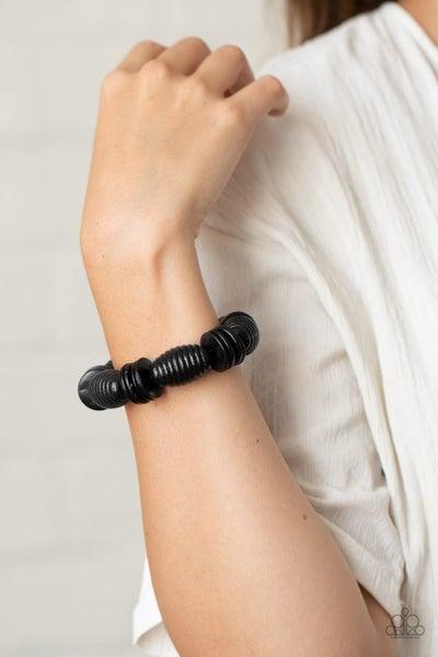 Caribbean Castaway - Black Stretchy Bracelet