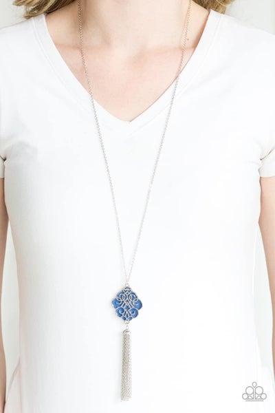 Malibu Mandala - Blue Necklace