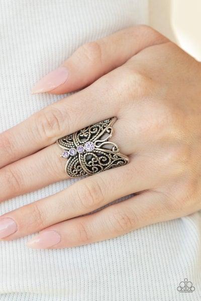 Butterfly Bling - Purple Ring