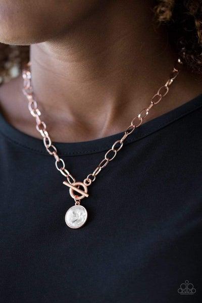 She Sparkles On - Copper Necklace