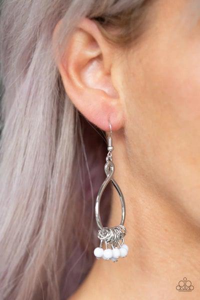 Broadway Babe - White Earrings