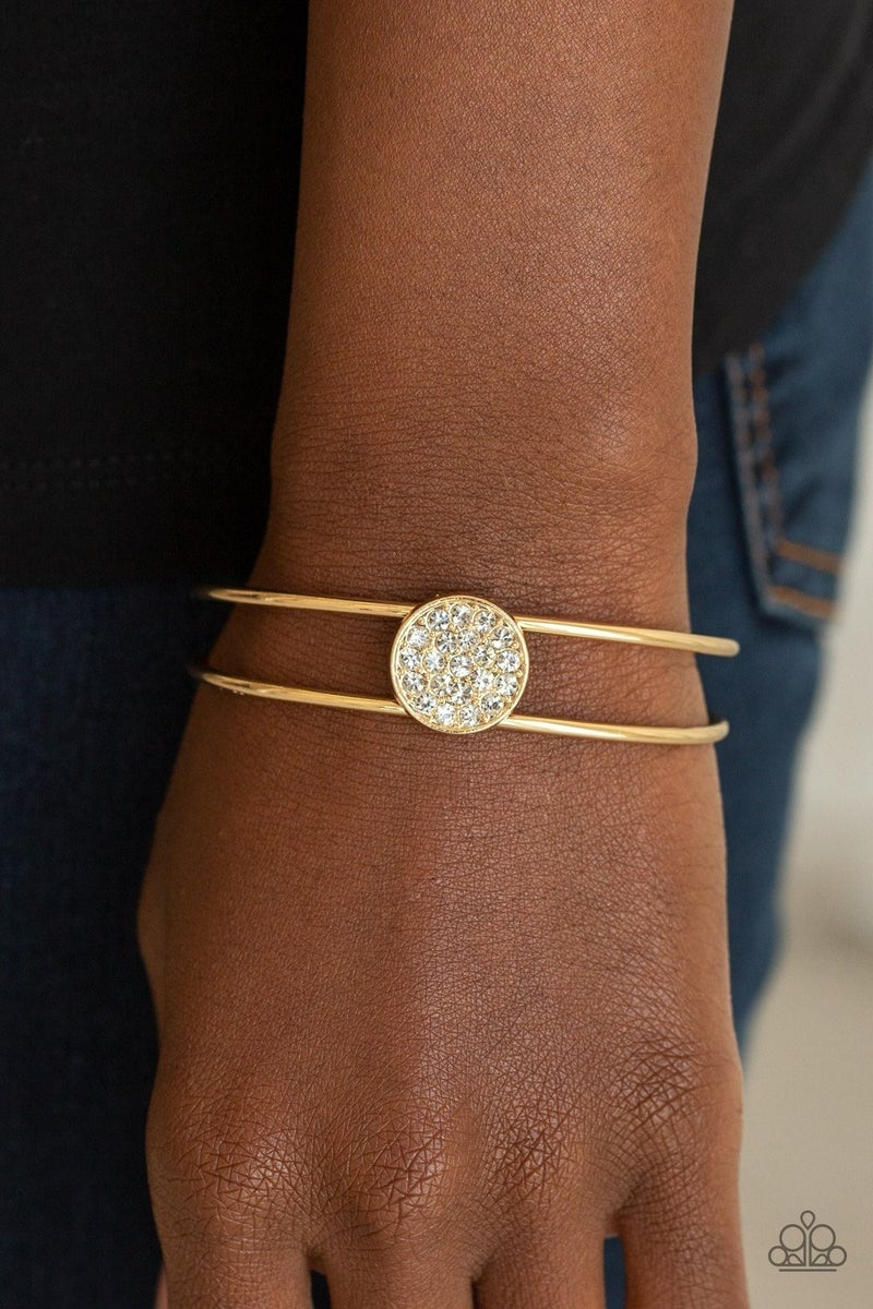 Dial Up The Dazzle - Gold Cuff