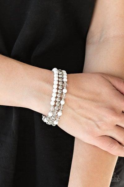 Irresistibly Irresistible - White Stretchy Bracelet