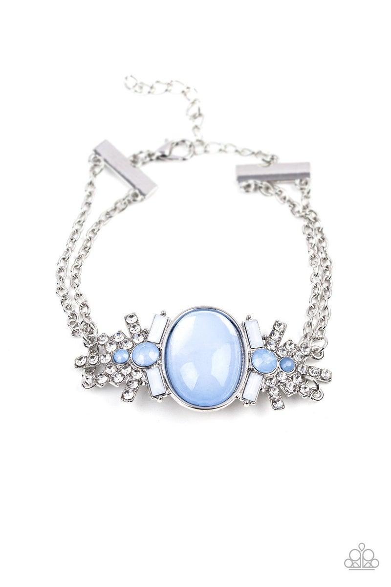 Brilliantly Boho - Blue Clasp Bracelet