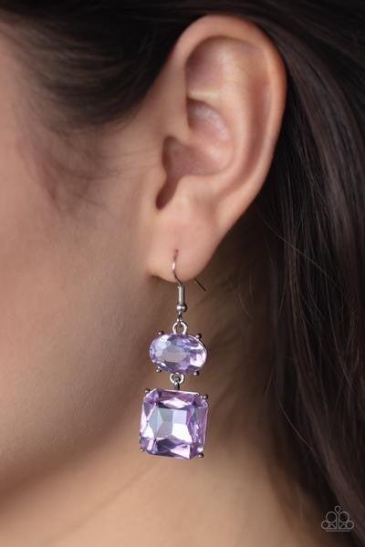 All ICE On Me - Purple Earrings