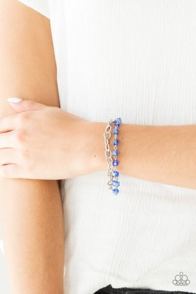Life Of The Block Party - Blue Clasp Bracelet