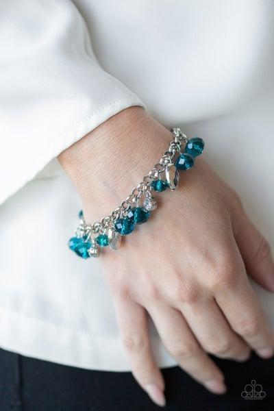 Dazing Dazzle - Blue Clasp Bracelet
