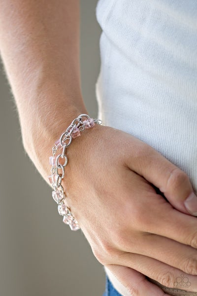 Life Of The Block Party - Pink Clasp Bracelet
