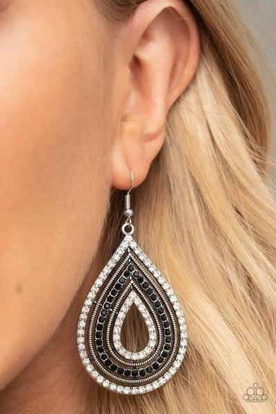 5th Avenue Attraction - Black Earrings